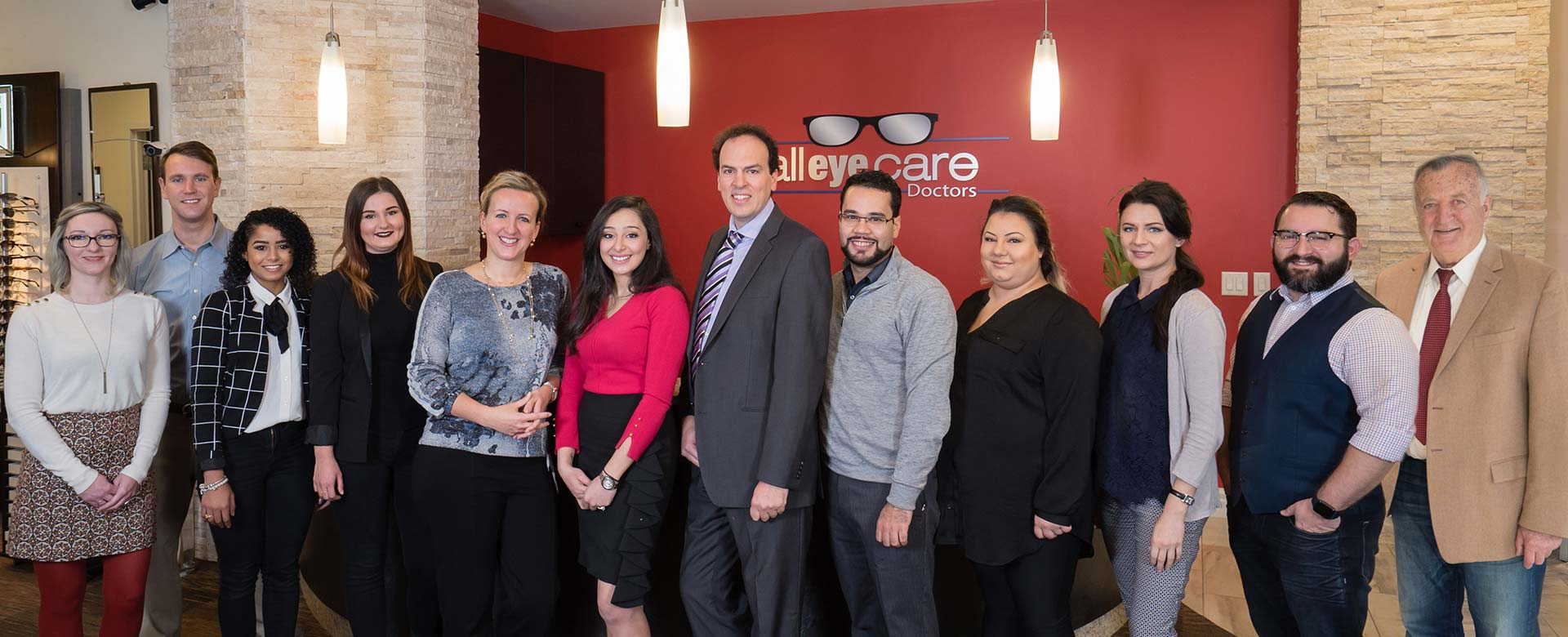 All Eye Care Doctors Medford Cambridge Group Shot Staff