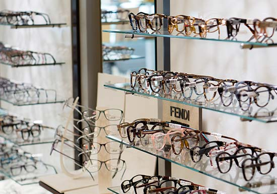 Eyewear Selection Wall