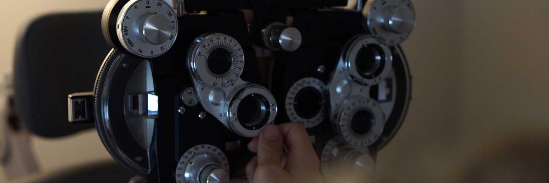 dr idrizovic inspecting eyes
