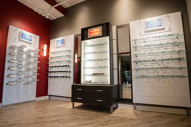interior shot glasses on the rack