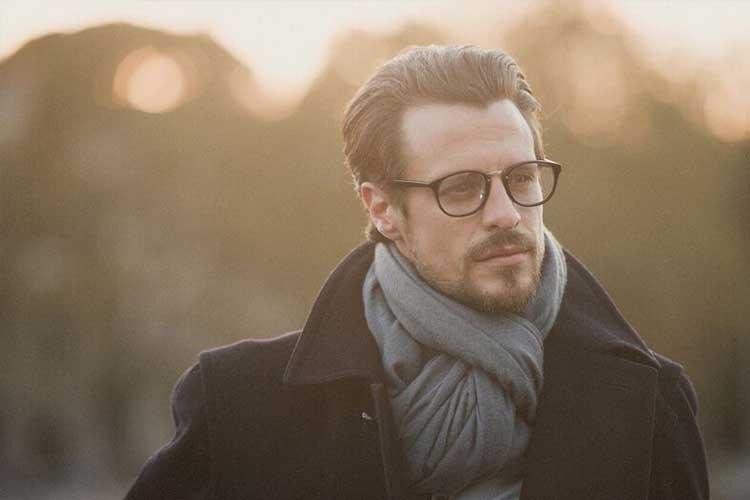 man modeling glasses