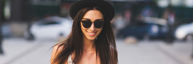 Girl wearing glasses smiling Boston MA